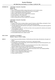 Professional Athlete Resume Example Best Of Certified Athletic Trainer Resume Samples Velvet Jobs