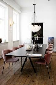 rectangular dining room light. Mesmerizing Dining Room Lighting White Rounded Pendant Lamp Black Rectangle Table Leg Red Curve Chair Wood Floor Rectangular Light O