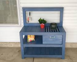 16 Free Potting Bench Plans To Organized And Make Gardening Work Plans For A Potting Bench