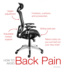 Plain Desk Chair For Back Pain Office With Inspiration Decorating