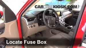interior fuse box location 2014 2016 chevrolet tahoe 2015 locate interior fuse box and remove cover