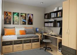 Star Warsthemed Bedroom With Small Home Office Design Inspiration Home Office In Bedroom