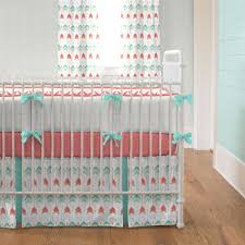 c and teal arrow crib bedding