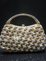 Light In The Box Handbags Womens Crystals Hollow Out Evening Bag Rhinestone Crystal