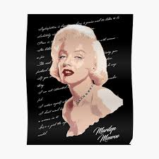 Sexy Marilyn Monroe Seductive Look With Quotes Poster