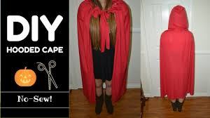 diy hooded cape no sew measurements included last minute idea you