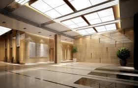 Decorations:Luxury Balck Color Decoration Hotel Lobby Interior Design With  Modern Artistic Sculpture Ceiling Design