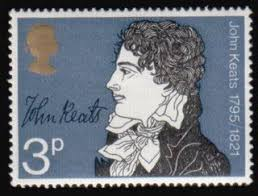 best keatsiana images literature sign writer  1971 british stamp of john keats one of the most talented british poets of