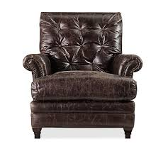 patterson leather armchair pottery barn
