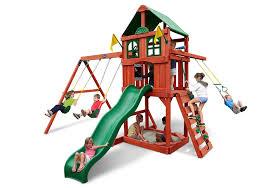 sweeer ii swing set children s wooden playsets