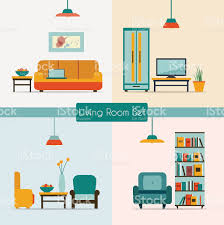 living room furniture clipart. vector image of living room furniture royalty-free stock art clipart