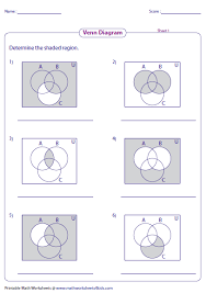 Venn Diagram Shading Examples Identify The Shaded Region Of Venn Diagram For Three Sets