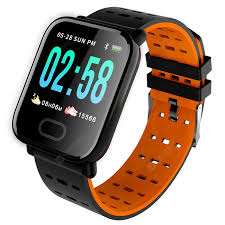 <b>A6 Color</b> Screen Smartphone Watch Orange Smart Watches Sale ...