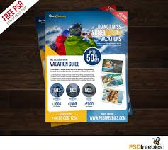 Travel Tour And Vacation Flyer Free Psd Psdfreebies Com