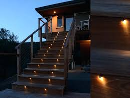 full image for low voltage outdoor stair lights in wooden villa led garden step lighting outside