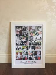Collage Design On Wall Signature Memory Collage Design Wedding Wall Art Poster