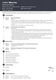 008 Mechanical Engineering 17 Resume Templates Template