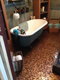 vintage bathroom with penny floor done with my own hands vintage bathroom vintage bathrooms vintage and house
