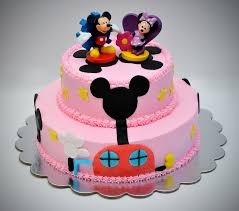 Minnie And Mickey Mouse Birthday Cakes Wedding Academy Creative