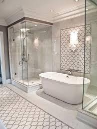 Bathroom  Airy Bathroom Interior With White Freestanding Tub With Free Standing Tub With Shower