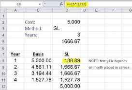 Depreciation Schedule Calculator Computer Software Depreciation Calculation