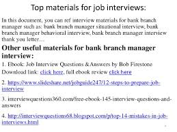 Bank Manager Interview Questions Top 36 Bank Branch Manager Interview Questions And Answers