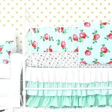 flower crib bedding fl for mint rose baby fl crib bedding