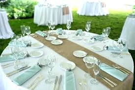 white tablecloth with burlap runner burlap round table er photo 2 of 6 wedding fuller white