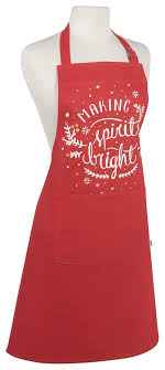 Now Designs Apron Amazon Com Now Designs 2500902 Apron Spirits Bright Home