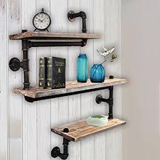 Amazoncom WYZ Furniture Reclaimed Wood Industrial DIY Pipe Shelf