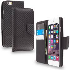 wallet carbon fiber leather wallet pouch case cover with slots for apple iphone 6s cellphonecases com