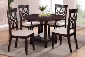 four chair dining table regarding brilliant round wood dauntless designs 4 room 16