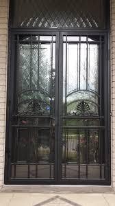 double storm doors. Crown-Double-Door-Blended-to-transom Double Storm Doors