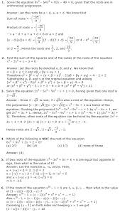 theory of equations problems