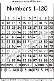 Blank 120 Chart Printable 120 Chart Number Chart 1 120 One Worksheet Free