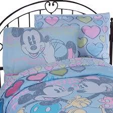 mickey minnie mouse full sheet set disney vintage bedding