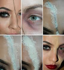 half glam half zombie makeup tutorial