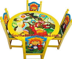 painted mexican furnitureCarved Painted Designs Chairs Tables Restaurant Furniture Mexican