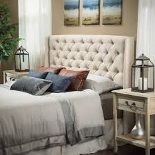 studio bedroom furniture. Allen Wingback Queen/Full Tufted Eggshell Fabric Headboard Studio Bedroom Furniture R