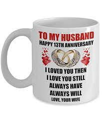 13th 13 year wedding anniversary gifts for husband him men from wife romantic marriage love rings