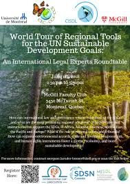 world tour of regional tools for the un sdgs international legal roundtable