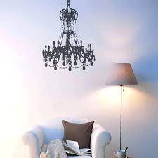 white wall decal black large grunge chandelier on a white wall white tree wall decal with chandelier wall