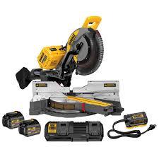 dewalt power tools saw. dewalt flexvolt 120-volt max lithium-ion cordless 12 in. double bevel sliding dewalt power tools saw l