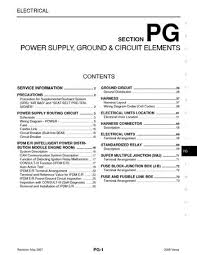 2008 nissan versa power supply ground circuit elements 2008 nissan versa power supply ground circuit elements section pg 73 pages