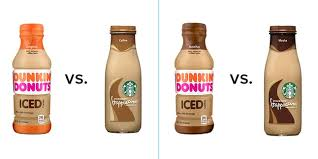 Mocha, french vanilla, original, and espresso Starbucks Vs Dunkin Donuts Bottled Iced Coffees Which Is Better