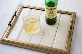 diy wood frame serving tray tutorial 24