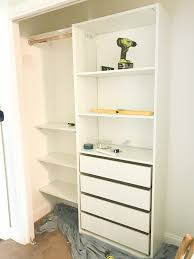 Kids closet ikea Diy Kid Then We Were Able To Fit The Shelving In Seamlessly At This Point Matt Secured It To The Wall With The Anchors That Ikea Provided Making Home Base Kids Closet Makeover With Ikea Closet Organizer Diy