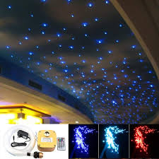 Led Star Ceiling Lights 16w Twinkle Fiber Optic Star Ceiling Lights Lamp Kit Led Rgbw Engine Driver Rf Dimmable Remote Control Mixed 0 03in 0 75mm 0 04in 1mm 0 06in 1 5mm