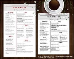 Free Breakfast Menu Template Kadil Carpentersdaughter Co