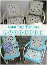 outdoor furniture restoration. Metal Patio Furniture Makeover By ALittleClaireification.com /  @ALittleClaire #furniture #restoration # Outdoor Furniture Restoration